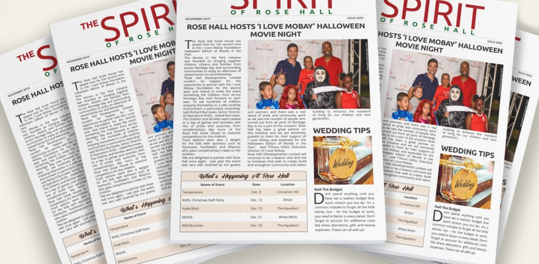 The Spirit of Rose Hall – Newsletter Issue 0002