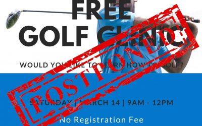 Rose Hall Golf Clinic Postponed